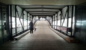 Bridge leading onto a pier.