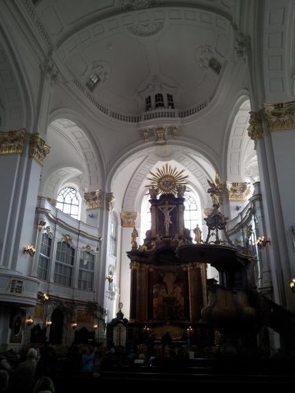 Inside the enormous St. Michael's Church.