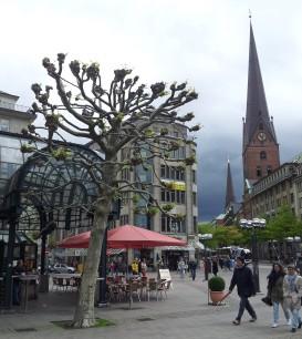 Near the Rathaus. Beautiful city, moody skies.
