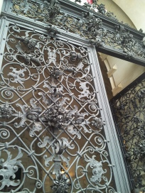 Look at the detailing on the gate leading into the Rathaus.