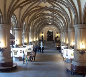 Inside the Rathaus.