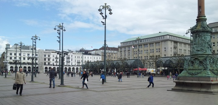 The Rathaus square.