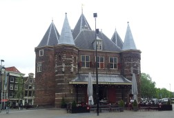 """The Waag. This used to be a city gate into Amsterdam in the 15th century and was part of the walls that encircled it. It was also the """"weighing house"""", where goods coming into the city were weighed to determine how much tax had to be paid. According to the tour guide -- and reinforced by the mother of all reliable information, Wikipedia -- the Waag at one point served as an anatomical theatre, where the public was welcome to watch surgeons and scientists cut open and experiment on cadavers. Might sound grotesque, but a few centuries ago, Amsterdam was one of the most scientifically advanced places in the world."""