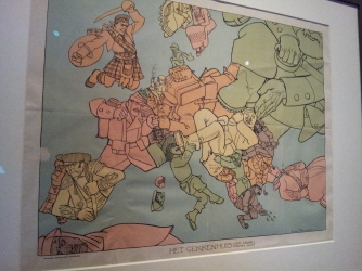 Satirical map of Europe in the Amsterdam Museum.